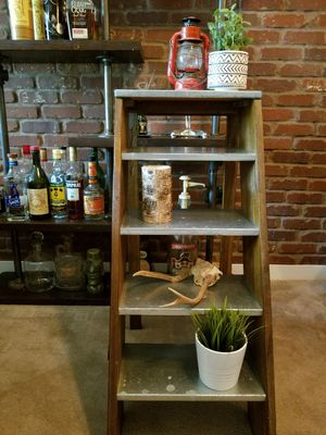 Wood and Metal Ladder Shelf for Sale in Renton, WA