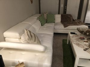 White leather sectional couch for Sale in Dunwoody, GA