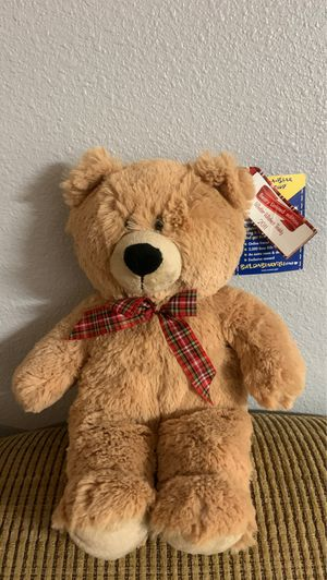 Build a Bear 2011 Winter Wishes Teddy NWT Plaid Bow for Sale in DeBary, FL
