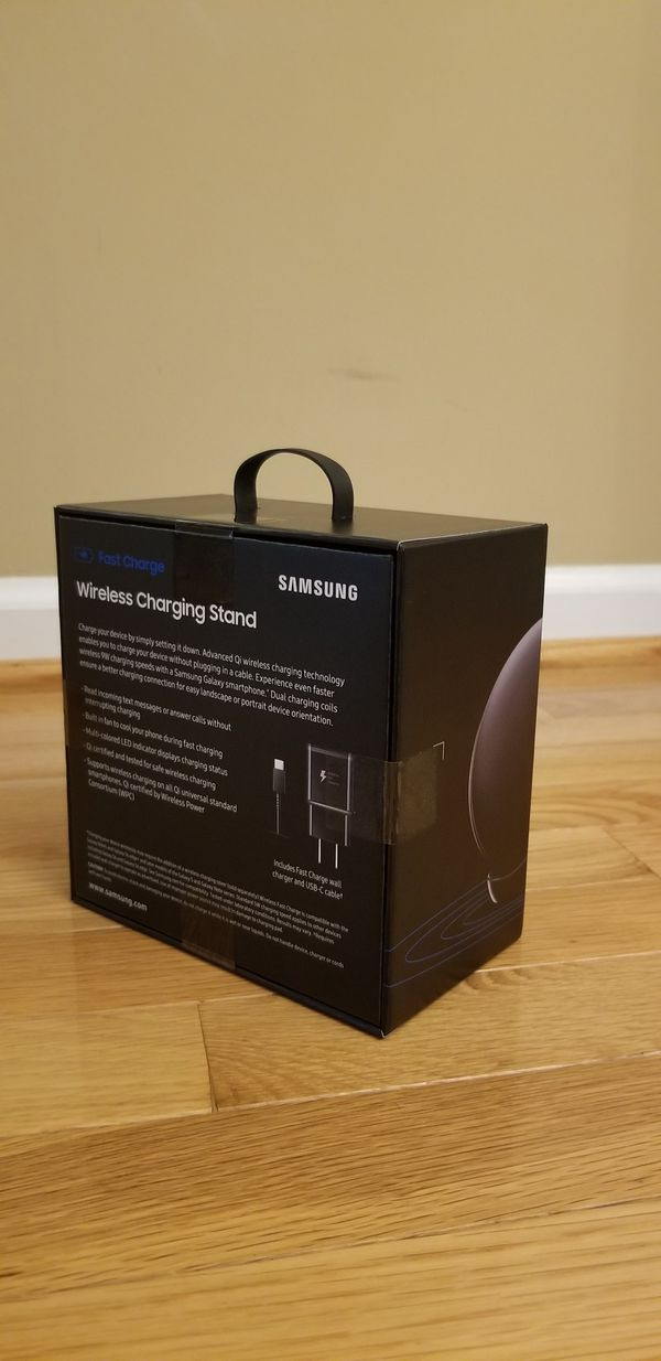 Samsung Fast Charge Wireless Charger w/Charging Stand, Black/SEALED