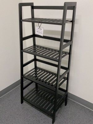 NEW $30 each 19x12x45 inches tall bamboo bookshelf shelf 4 tiers natural or black color for Sale in Whittier, CA