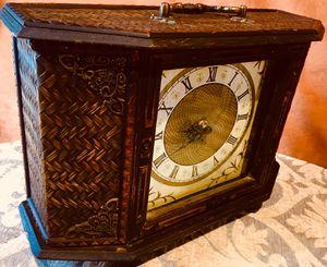 Antique look, vintage wood desk clock Decorative home accent for Sale in Sun Lakes, AZ