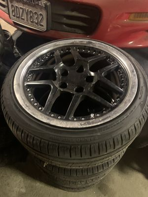 "Black 17"" Zo6 rims on new tires for Sale in Tracy, CA"
