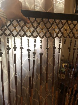 Beautiful wooden beads to hang in doorway/closet. for Sale in Arcadia, CA