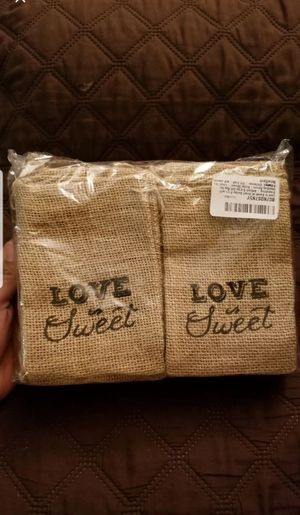 Love is Sweet 30 Small Burlap Bags for Sale in Barstow, CA