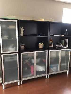 IKEA Bookshelves EFFEKTIV Dark Chocolate for Living Room or Office for Sale in Norwalk, CA