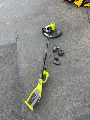 Ryobi trimmer and edger with battery and charger for Sale in Garden Grove, CA