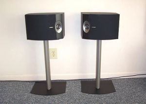 Bose 301V Speakers with floor stands for Sale in Clifton, NJ