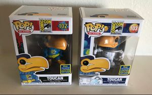 Funko Pop SDCC 2020 Exclsuive Astronaut and Super Hero TOUCAN IN HAND NEW IN BOX for Sale in Kissimmee, FL