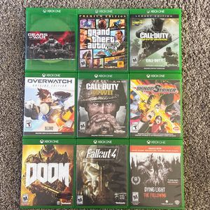 Gears Of War, Grand Theft Auto 5, Infinite Warfare, Overwatch, World War 2, Shinobi Striker, Doom, Fallout 4, Dying Light. Take All Games For $40. for Sale in Kennewick, WA
