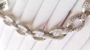 Stainless Steel Chainlink Style Silver Bracelet for Sale in Denver, CO