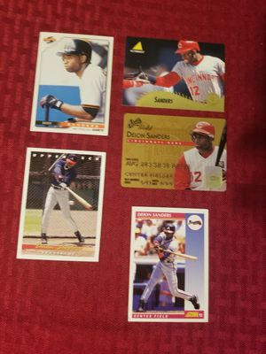 5 Each Deon Sanders Baseball Cards for Sale in Baltimore, MD