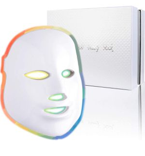 Led Face Mask - 7 Color Photon Blue Red Light Therapy Skin Rejuvenation Facial Skin Care Mask Therapy For Healthy Skin Rejuvenation | Home Light Ther for Sale in Upland, CA