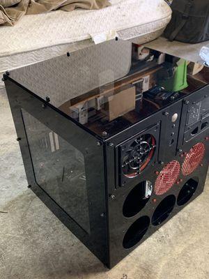 Mountain Mods U2-UFO Horizontal Computer case with Bitspower, EK water cooling parts, 2 radiators 10 fans, hard drive bracket, and Bitpower X-Station for Sale in Auburn, WA