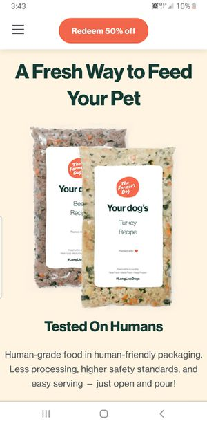 """""""The farmers dog"""" fresh dog food 30 day supply for Sale in Norcross, GA"""