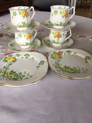 Sweet Vintage Royal Stafford 12 piece tea set,bone China for Sale in Scappoose, OR