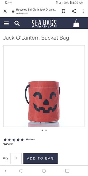 SEABAG HALLOWEEN BAGS (5) $15 EACH for Sale in Chicago, IL