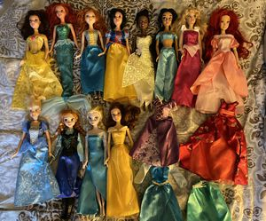 Huge Disney Princess doll lot of 12 for Sale in Elk Grove, CA