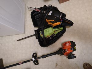2 Poulan chainsaws and Remington weedeater for Sale in High Point, NC