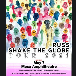 Russ Shake The World Tour May 7 2021 for Sale in Gilbert, AZ
