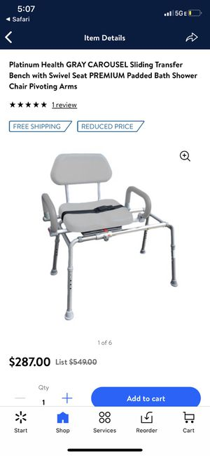 Platinum health bath shower chair for Sale in Woodburn, OR