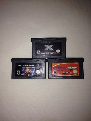 Game Boy Advanced Games:Star Wars, Monsters Inc-Finding Nemo 2 in 1 Cartridge,X-Men The Official Game All Play Fine Good Condition $5 Each Game for Sale in Reedley, CA