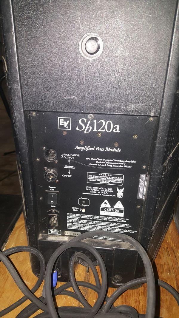 """Electro-Voice EV Sb120a Active 12"""" PA Sub Subwoofer"""