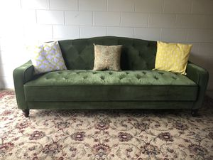 Novogratz Vintage Tufted Green Sleeper Sofa Futon for Sale in Brandon, FL