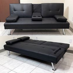"$190 (brand new) futon sofa bed 65x30x31"" for Sale in La Habra Heights,  CA"