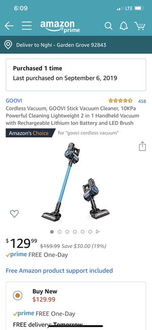 Cordless vacuum 10kpa powerful as Dyson for Sale in Santa Ana, CA