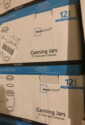 12 pack 1 quart Canning Jars for Sale in DeSoto, TX