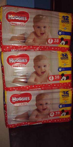 3 paquetes de pañales Huggies Snug & Dry de 38 pañales cada uno for Sale in Dallas, TX