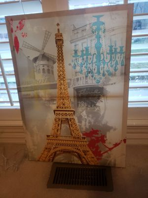 Eiffle Tower Canvas Portrait for Sale in Fort Smith, AR