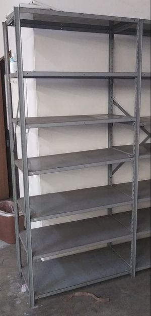 Nice metal shelving comes with 7 shelves for Sale in Long Beach, CA