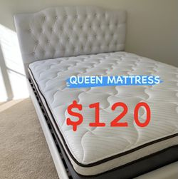 BRAND NEW PILLOW TOP MATTRESSES !! ✅ BEST DEALS 💥💥💥 ✅ ‼️ SAME DAY DELIVERY 🚛 ‼️⚠️ ✅ $20 Delivery FEE ✅ QUEEN MATTRESS $120 ❌ $180 With Box Spri for Sale in Fontana,  CA