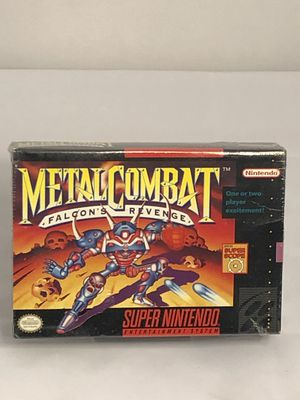 Metal Combat: Falcon's Revenge Super Nintendo SNES Brand New and SEALED for Sale in St. Clair Shores, MI