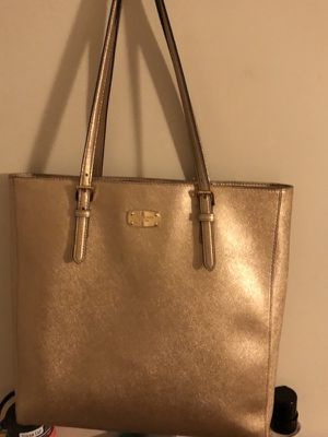 Michael Kors(Saffiano Leather Large Jet Set North South Travel Tote Pale Gold) for Sale in San Francisco, CA