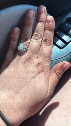 1 CT T.W. Composite Diamond Oval Frame Engagement Ring for Sale in Houston, TX