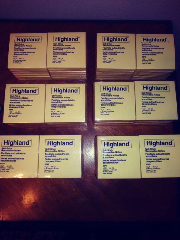 Highland Self-stick Removable Notes