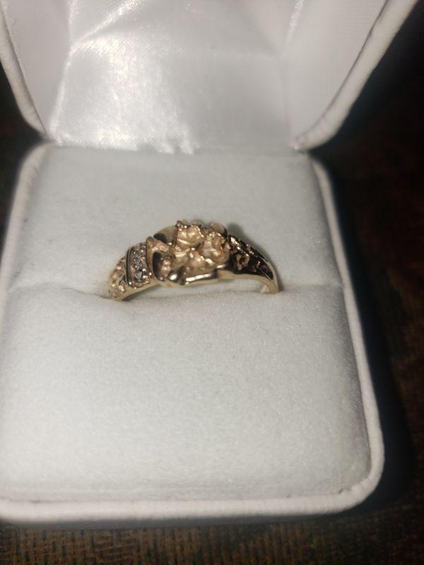 10k gold nugget ring