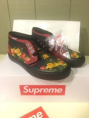 Supreme Vans Jean Paul Gaultier Floral Print Chukka Pro Cardinal - Men's Sz 9 for Sale in Detroit, MI