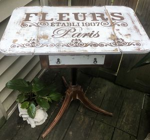 Painted Cottage Chic Shabby Romantic French Bombay Night Table. for Sale in Lexington, KY