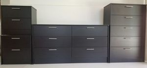 NEW BLACK DRESSER, CHEST AND TWO NIGHSTANDS for Sale in Orlando, FL