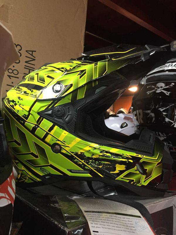 New Off Road Dirt Bike Motorcycle Helmet S $85 And Up