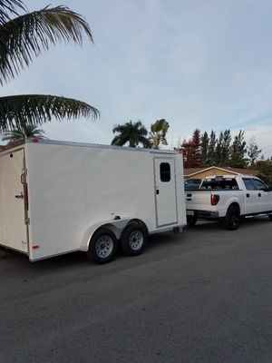 Got it in 2019 its a 7x14 v-nose for Sale in Fort Lauderdale, FL