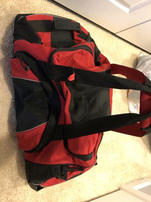Large Duffle Bag (w/ wheels) - Black and Red for Sale in South Riding, VA