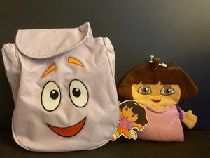 Dora Bundle: Hand puppet + Backpack (w/ games inside) for Sale in Los Angeles, CA