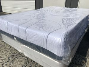 "New FULL size Serta 12"" Gel Memory Foam Mattress And Split Box Spring for Sale in Columbus, OH"