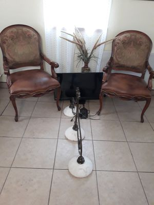 Two antique chairs, 32 inch TV and a Lamp. for Sale in North Fort Myers, FL