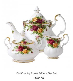 Royal Albert England 1904 old country roses 3-piece set regular price 400 selling for $180 for Sale in Manassas, VA